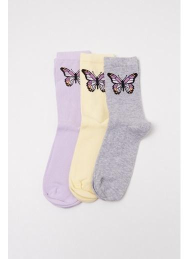 Katia & Bony 3'Lü Paket Kadın Step Çorap - Mix Renkli